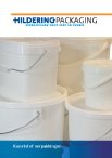 Product brochure plastic packaging