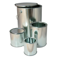 Cylindrical tinplate packaging
