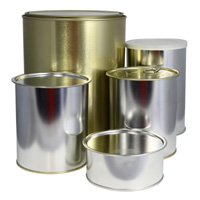 Tin cans for food