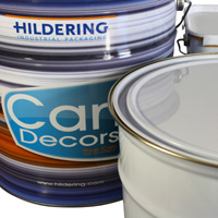 Tin packaging for wall paints
