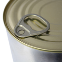 Seamed lid cans easy opening