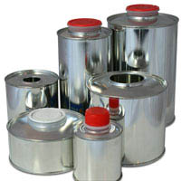 Round liquid tinplate packaging